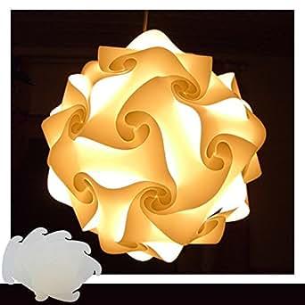 Puzzle blanc taille xXL lampe suspension design lampe suspendue