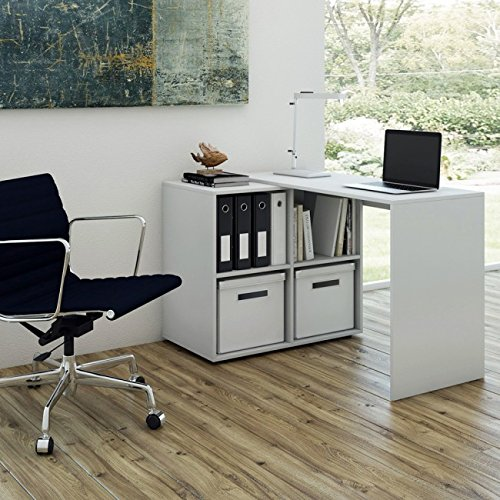 L-form Eck-schreibtisch (animalmarketonline Schreibtisch PC-Tisch für Haus Büro Bahnhof Arbeit Multi)