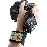 Empuñadura de Muñeca correa de Mano para Cámara de fotos Réflex por USA GEAR como Canon,Nikon,Sony,Pentax y muchas más.Diseño Azteca
