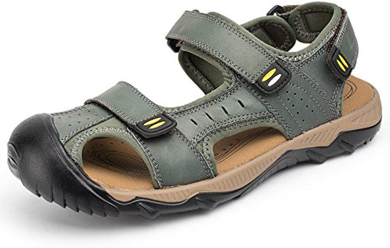 LEDLFIE Sommer Strand Schuhe Mode Männer Casual Sandalen Baotou Outdoor Herrenschuhe Khaki 40LEDLFIE Sandalen Outdoor Herrenschuhe Khaki 40