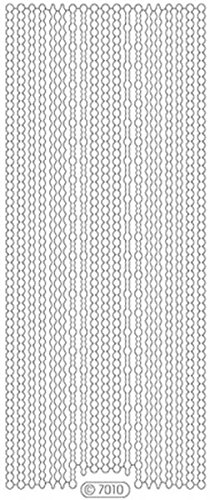 Starform Peel Off Zier-Sticker 7010 transparent-glitter-silber