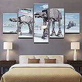 Wosgwz8 Wandkunst Leinwand HD Drucke Gemälde Wohnkultur Für Wohnzimmer 5 StückeBilder Roboter Hunde Poster Rahmen
