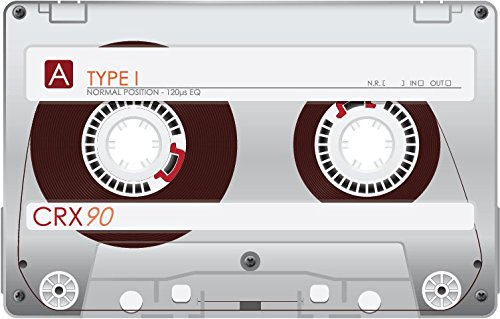 Audio Cassette Type 1 CRX 90 Alta Calidad De Coche De Parachoques Etiqueta Engomada 12 x 10 cm