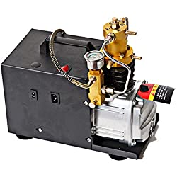 SENDERPICK Pompe à air haute pression électrique 4500PSI 300Bar 30MPA Pompe compresseur électrique PCP compresseur d'air électrique compatible avec les voitures standard et les pneus de vélo