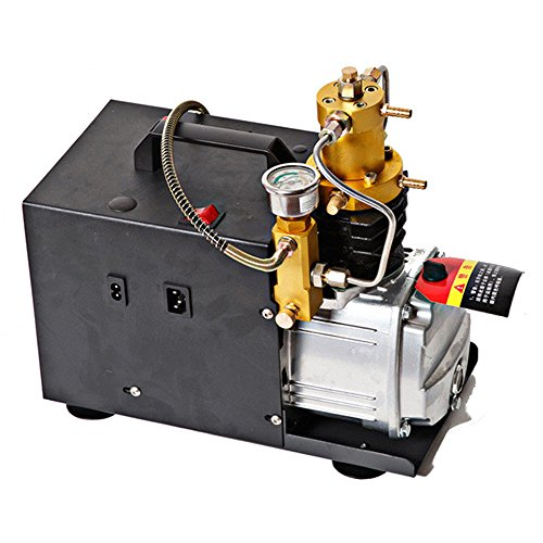 SENDERPICK Elektrische Hochdruckluftpumpe, 4500PSI 300Bar 30MPA elektrische Kompressor-Pumpe, PCP elektrischer Luftkompressor passend für Standardauto Motorräder und Fahrrad-Reifen -