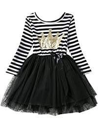 266bf1e3dbeb Baby Girls Toddler Kids Princess Long Sleeve Dress 1st/2nd/3rd Birthday  Cake Smash