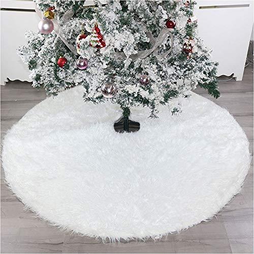 AIYoo Faldones árbol Navidad Color Blanco Peluche