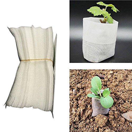 100 pcs/lot Sacs biodégradables non-tissé de chambre d'enfant semis Raising Sacs 8*10 cm Tissus semis Pots Jardin Fournitures 8*10cm as picture show