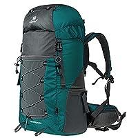 Coreal 50L Hiking Backpack Camping Rucksack Trekking Daypack Climbing Bag Atrovirens