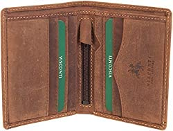 Visconti Arrow Mens Oil Tan Leather Slim Bifold Wallet Boxed Style 705
