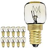 10PIECES/Pack SES E14Schraube Gap Pygmy Lampen 300Grad Mikrowelle/Backofen spezifische Night Leuchtmittel, E14 15.00W 240.00V