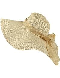 Gladiolus Chicas Grande Sombrero de la Playa Sombrero de Paja Sombrero de Verano  Sombrero De Fiesta Sombrero de Sol Pamela One Size niña… 3d59d2075fe