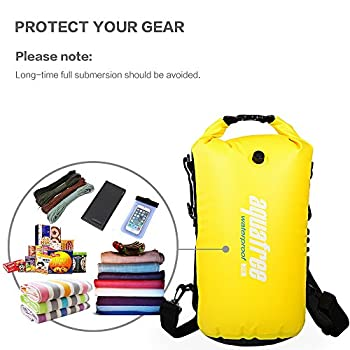 Aquafree Dry Bag, 20l Yellow Dry Backpack, Comfortable & Heavy-duty Grab Handle & Shoulder Strap, Best Material Waterproof Backpack, Quality Roll Top, Waterproof 5