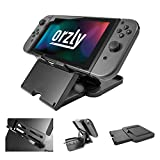 Orzly Play Stand Compatible With Nintendo Switch [With Air-Vent Access] BLACK Foldable Multi Angle Stand, Raised for Charging Port Access (while playing in Tablet Stand Mode)