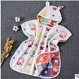 ZQBQY Costume da Bagno per Bambini Asciugamano Asciugamano con Cappuccio Asciugamano da Spiaggia Asciugamano Morbido Poncho Cotone per Bambini Capezzolo 60 * 60cm 12
