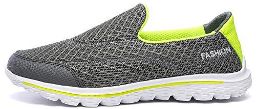 Bonways mesh slip on chaussures de sport et de plage pour homme chaussures de course marche sneakers de homme Vert
