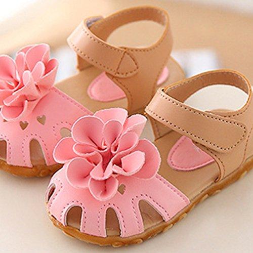 NiSeng Enfants Filles Sandales Fleurs Chaussures Sandals Princess Sandals Prewalker Sandales De Plage 1#Rose