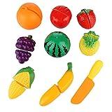 Lukis Jeu d'imitation de Cuisine Set 9 Pièces Jouets de Coupe de Fruits Jouet de Cuisine Fruits à Découper Éducatif pour Bébé et Enfants