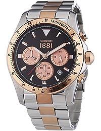 Cerruti 1881 Herren-Armbanduhr XL URANO Analog Quarz Edelstahl CRA083J231G