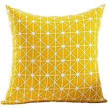 ZXKEE cojines Cover Algodón Wave Diseño decorativos funda cojin Plaza 45x45 cm (oro geométrico)