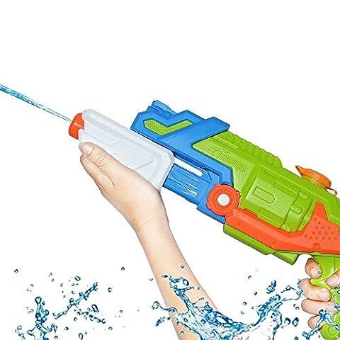 TeaQ Wasserpistole Große Kapazität 1800ml Großer Reichweite für Kinder und Erwachsene Lustige Strandspiele (Farbe