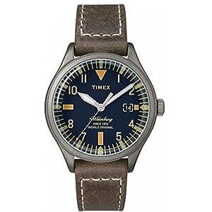 Timex Reloj Analogico para Mujer de Cuarzo con Correa en Cuero TW2P84400