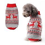 Chien Pull Manteau chaud pour les chiens Christmasâ Renne à tricoter Patterns pour animal domestique Pull à col roulé pour festif
