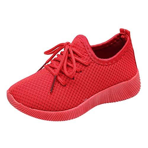 Baskets Enfants - Sneakers da corsa, unisex, motivo: Chaussures Respirant Route en Cours Filles Légère rosso 29