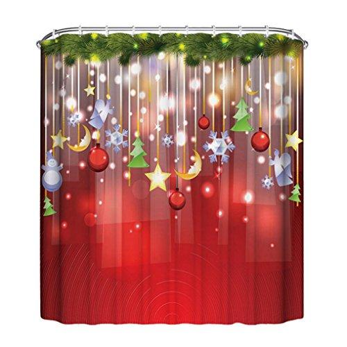 Chrom-glas-zahnbürstenhalter (Duschvorhang, Frashing 150cm*180cm Neues Weihnachten wasserdicht Polyester Bad Duschvorhang Dekor mit Haken (F))