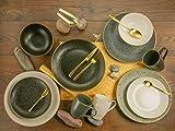 Creatable, 14634, serie INDUSTRIAL GOLD, set di piatti, servizio combinato 16 pezzi, Terraglia