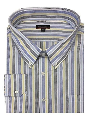 Pierre Cardin Pure Cotone A Maniche Lunghe Righe Camicia in Misura 2XL a 5XL, 2 Colori - Limone Righe, 3XL ( Chest 54 - 56 Inches)