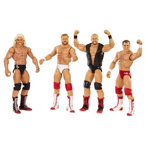 The Four Horsemen Hall of Fame WWE Elite 4 pack figures Ric Flair Arn Anderson Barry Windham Tully Blanchard by MATTEL by Mattel (Fame Hall Mattel Wwe Of)