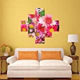 #9: DeStudio Collection Flower Wall Painting Stickers (Wall Covering Area : 95cm X 86cm )-13507