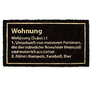 Kokos Fußmatte WOHNUNG 75x45cm
