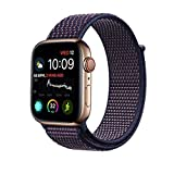 Tervoka Für Apple Watch Armband 42mm(44mm Series 4), Gewobenes Nylon Sport Schlaufe Handgelenk Uhrband Ersatz Armreif Uhrenarmband für iWatch Apple Watch Series 4/3/2/1, Indigo