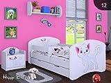 moleo 5902729202923 Children's Bed-Kitten, Holz, White, 144 x 75 x 62 cm