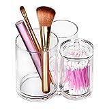 ISWEES Organizer per Cosmetici – 3 Scomparti Organizzatore Trucco in Acrilico Trasparente Contenitori Trucchi Porta Pennelli Box (3 Scomparti)