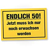DankeDir! Endlich 50 Jahre, Kunststoff Schild - Geschenk 50. Geburtstag Bester Freund/Freundin, Geschenkidee Geburtstagsgeschenk 50ten Geschenk 50er Geburtstagsparty