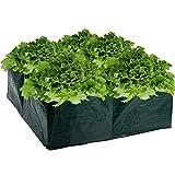 Letto rialzato da giardino, vaso quadrato in polietilene per piante, fiori, verdure, 60 cm x 60 cm