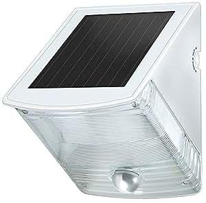 Brennenstuhl Solar LED-Wandleuchte SOL 04 plus IP44 mit Infrarot-Bewegungsmelder 2xLED 0,5W 85lm Farbe Grau-Weiß 1170870