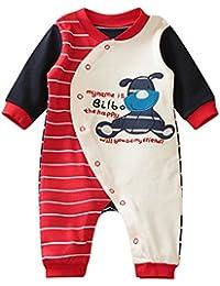 5af21106caf38 Vine Pyjama Bébé Fille Garçon Grenouillère Combinaisons en Coton Bouton à  Manches Longues ...