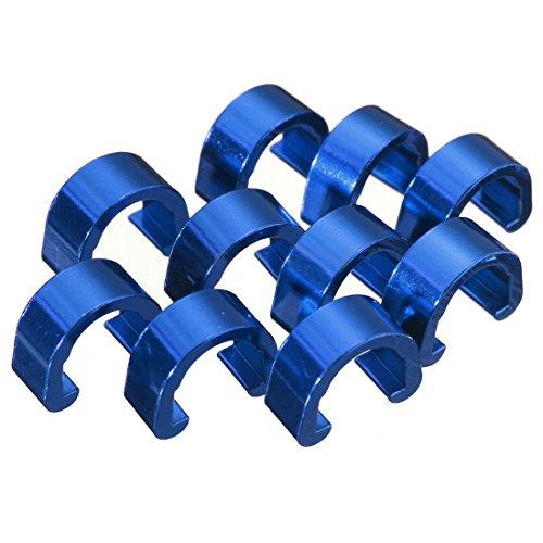C - clips hebillas - SODIAL(R)10pcs C-Clip Tubos Chasquido Freno Manguera Guia...