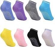 HZDyg 8 paia calzini yoga,calzini antiscivolo donna ,calzini antiscivolo adulti,per sport, yoga, pilates, danz