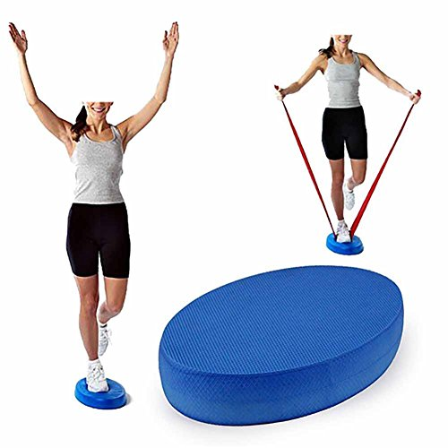 EMVANV Yoga-Schaumstoff-Board, Balance-Polster, Fitness-Übungskissen, oval, Blau, blau