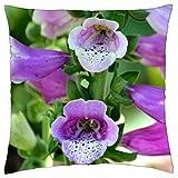 Pink Foxglove - Throw Pillow Cover Case (18