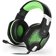 Gaming Headset, ECHTPower LED Gaming Kopfhörer Stereo 3,5mm Gaming Headset für PC Computer Laptop mit Farbiger LED Beleuchtung, Mikrofon, 3,5mm Klinkenstecker und USB Stecker