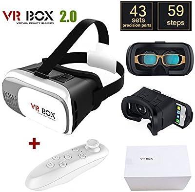 Gafas de Realidad Virtual 3D HD VR BOX 2.0 Version PRO + Mando Joystick Controlador por Bluetooth 4315