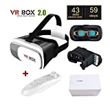 Gafas de Realidad Virtual 3D HD VR BOX 2.0 Version PRO + Mando Joystick Controlador por Bluetooth 4315 - ONOGAL - amazon.es