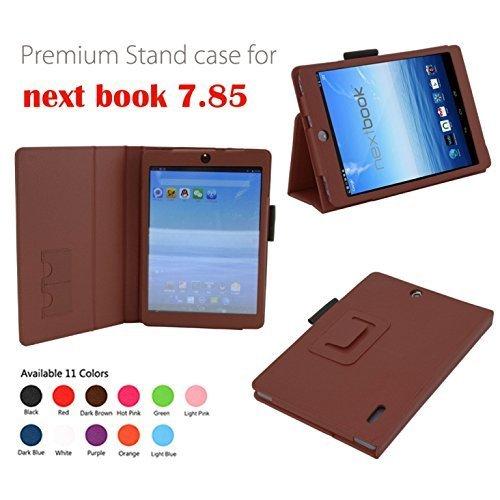 Elsse Premium Schutzhülle für E-Fun NX785QC8G Nextbook 8 Quad Core (2014 Version) Android 4.2 kapazitive Touchscreen-Tablet, braun (Tablet Nextbook 8 Premium)