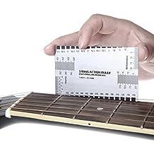 Zuanjia Double Sided Multi Funzione String Azione Righello Set Up ~ con Free e guida utente e, per chitarra, per chitarre elettriche, acustiche e bassi Liutaio ~ pollici e millimetri